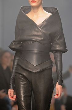 Gareth Pugh Spring 2013.  (Belt!  Jacket is pretty sweet too...)