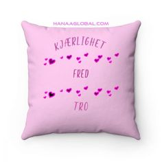 Kjærlighet Fred Tro PynteputePent pyntepute med søt design og trykk på begge sider.These highly practical beautiful indoor pillows in various sizes serve as statement pieces, creating a personalized environment..: 100% Faux suede cover.: Double-sided print.: Concealed zipper.: Polyester pillow included  14 Unique Gifts, Throw Pillows, Beautiful, Design, Toss Pillows, Cushions, Decorative Pillows, Decor Pillows