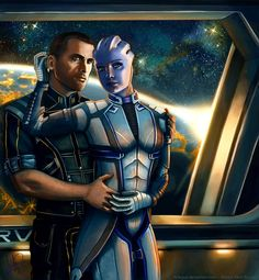 Liara and Shepard - Always here for you. Version 2 by AHague on DeviantArt Mass Effect Romance, Mass Effect Art, Mass Effect Universe, Always Here For You, Star Force, Original Trilogy, Many Faces, My Favorite Image, Princess Zelda