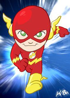 The Flash Art Card by kevinbolk on DeviantArt Cleaning Cartoon, Flash Wallpaper, Baby Avengers, Superhero Party, Comic Character, Comic Art, Art For Kids, Pop Art, Art Projects