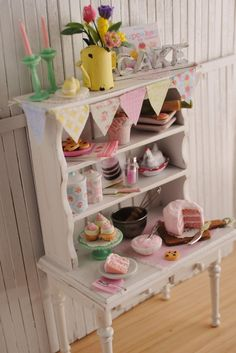 Miniature Kitchen Baking Hutch Filled With di LittleThingsByAnna, $159.99