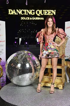 Anna Dello Russo attends the Dolce Gabbana 'Dancing Queen' After Show Party during Milan Fashion Week Fall/Winter 2017/18 on February 26 2017 in...