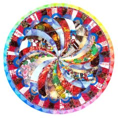 Mandala made with plastic bags. It beats that tablecloth I made last year by miles