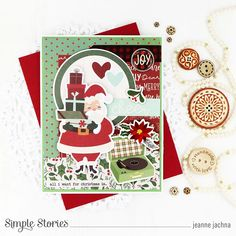 Spreadin' Good Cheer! by Jeanne Jachna – Simple Stories Homemade Christmas Cards, Good Cheer, Jingle All The Way, Simple Stories, Very Merry Christmas, Cards For Friends, Hard Candy, Poinsettia, Favorite Holiday