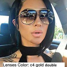 Buy HBK Fashion Oversized Pilot Sunglasses Women Retro Brand Designer Big Frame Sun Glasses For Female Ladies Eyewear Oversized Aviator Sunglasses, Cat Eye Sunglasses, Sunglasses Women, Black Sunglasses, Sunglasses Accessories, Sunglasses Sale, Aviator Glasses, Luxury Sunglasses, Uv400 Sunglasses