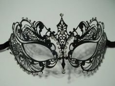 NYE    Laser Cut Metal Venetian Mask with Rhinestone Black by Best Deal Stores, http://www.amazon.com/dp/B009SDU20S/ref=cm_sw_r_pi_dp_ytQTqb1FREXX5