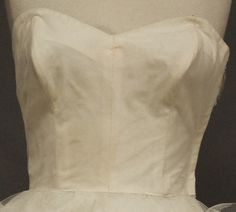 Vintageous, LLC - Frothy Ivory Tulle Strapless 1950's Prom Dress Wedding Dress Cotillion Original, $170.00 (http://www.vintageous.com/frothy-ivory-tulle-strapless-1950s-prom-dress-wedding-dress-cotillion-original/)
