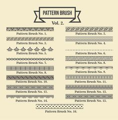 Vintage Borders Pattern Brushes 2 by G7 on @creativemarket