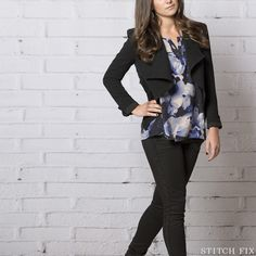 Stitch Fix: How To Wear Black and Navy, Night Out Look