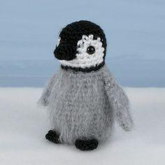 Baby Emperor Penguin amigurumi PDF CROCHET PATTERN by PlanetJune (Craft Supplies & Tools, Patterns & Tutorials, Fiber Arts, Crochet, penguin, emperor, realistic, animal, bird, toy, winter, baby, grey, fluffy, cute, happy feet, mumble)