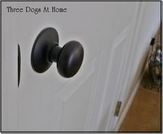 Spray painted door knobs...she even posted pics showing how they look after 5 years of use! :) Awesome! (@Alyssa Taube, check these out! It's like the ceiling fan project you showed me years back!)