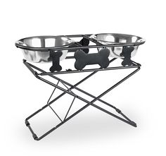 Shop for Multi Level Adjustable Diner 3 Tiers Black Wrought Iron. Get free delivery On EVERYTHING* Overstock - Your Online Dog Supplies Store! Tallest Dog, Cat Feeder, Dog Food Storage, Dog Shower, Dog Diapers, Dog Travel, Dog Feeding, Outdoor Dog, Pet Bowls