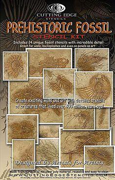 Cutting Edge Stencils - Prehistoric Fossil Stencil Kit