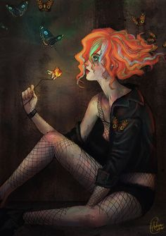 Delirium (Sandman) by Helena M. Cintra, via Behance