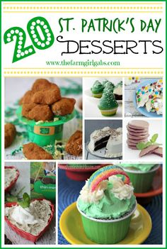 Patrick's Day is almost here. How about 20 Fun St. Patrick's Day Desserts to share with your family and friends. Cookbook Recipes, Baking Recipes, Dessert Recipes, Holiday Recipes, Great Recipes, Favorite Recipes, Holiday Foods, Holiday Fun, Holiday Ideas