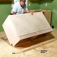 How to Install Cabinets Like a Pro — The Family Handyman How To Install Kitchen Island, Installing Kitchen Cabinets, Building Kitchen Cabinets, Kitchen Wall Cabinets, Upper Cabinets, Kitchen Furniture, Garage Cabinets, Diy Cabinets, Kitchen Linens