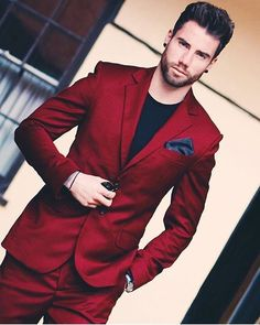 If you can pull off this red suit, by all means buy one! #redsuit  #danielcovington #mensfashion