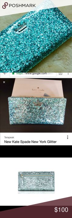 Glitter bug Kate spade wallet Stunning Kate Spade Glitter Bug Wallet. Perfect condition. Smoke free pet free home kate spade Accessories