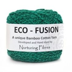 Eco-Fusion is a 50/50 blend of bamboo and cotton yarn that can be used for everything from cardigans to blankets. The cotton and bamboo are locally grown and while not certified organic, they have been farmed with these principles.