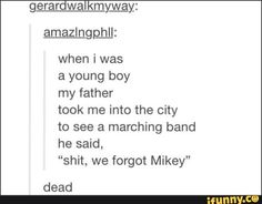 we forgot Mikey