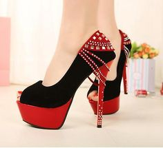 Red And Black High Heels