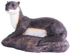 Kelkay 4461 Laying Otter Statue >>> You can find out more details at the link of the image.