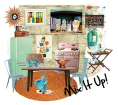Mix It Up! by plumsandhoneyvintage on Polyvore featuring interior, interiors, interior design, home, home decor, interior decorating, International Caravan, Office Star, Retrò and kitchen