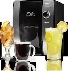 Esio Hot and Cold Beverage Maker, Black and Chrome Countertop Model CB1001 Hot and cold beverage system that can make any size name brand drink at the touch of a button in just seconds. Stainless and black design complements any décor. Our patented strength selector lets everyone customize their drinks from light to maximum bold flavor. Family friendly drink choices for everyone that are low in s... #EsioBeverageSystem #Kitchen
