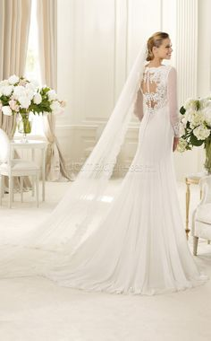 Manuel Mota For Pronovias 2013 Bridal Dresses Scoop Wedding Dress, Wedding Dress 2013, Pronovias Wedding Dress, Sexy Wedding Dresses, Long Sleeve Wedding, Bridal Dresses, Wedding Gowns, Lace Wedding, Bridesmaid Dresses