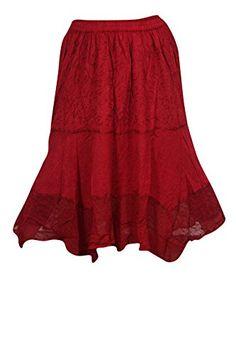 Women's Skirt Boho Deep Red Embroidered Drawstring Lace h... https://www.amazon.com/dp/B01LQBNNS2/ref=cm_sw_r_pi_dp_x_eFa-xb4HZWZAK