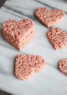 Easy Valentine's Rice Crispy Treats for your sweetheart