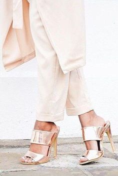 #summer #trending #womens #shoes   Rose Gold Mules