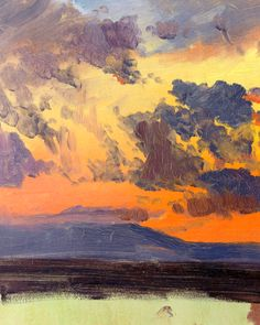 Frederic Edwin Church, Sky at Sunset, Jamaica, West Indies (detail)