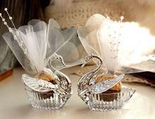 10 unidades cisne cajas Favor de la boda / regalo creativo Selfdom Bomboniere cajas del caramelo del(China (Mainland))