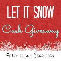 Let It Snow $750 Cash Giveaway! - 2 Little Supeheroes