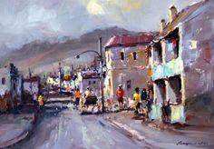 Artist Gallery, Love Art, Nice, Cityscapes, Art Oil, Oil Paintings, South Africa, Buildings, Scene
