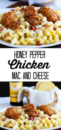 Honey Pepper Chicken Mac and Cheese a delicious creamy and cheesy Applebees Copycat recipe!