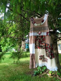 A personal favorite from my Etsy shop https://www.etsy.com/listing/458577386/upcycled-womens-clothing-patchwork-boho
