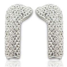 Pair of DEOS Crystal Swarovski elements earphone c