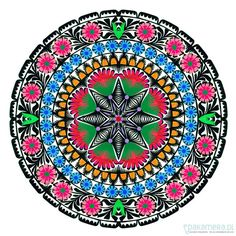 Pakamera.pl - na ścianę - Floral Art Papercuts Mandala (in darkgray frame)