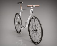 Kzs Cycle looks really elegant with its metal frame and wooden handlebars, it's an urban bike designed by Hungarian designer.
