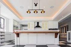 Soft lighting with light trough detail in ceilings - open plan living & kitchen area Roofing, Light, Open Plan, Soft Lighting, Lighting, Open Plan Living, Trough, Home Decor, Ceiling Lights