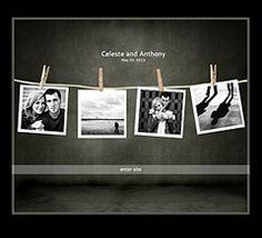 """Darkroom"" Wedding Website Theme - WeddingWindow.com"
