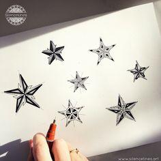 Tattoo Geometric Star Posts Ideas For 2019 Star Tattoos For Men, Small Star Tattoos, Tattoos For Women Half Sleeve, Sleeve Tattoos, Tattoos For Guys, Future Tattoos, Dragonfly Tattoo Design, Star Tattoo Designs, Line Drawing Tattoos