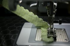 how to stitch a scallop edge with your sewing machine ~ sew blessed