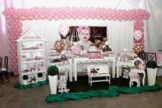 Festas Tia Nu - Festas Personalizadas: Festa Ursinha Marrom e Rosa