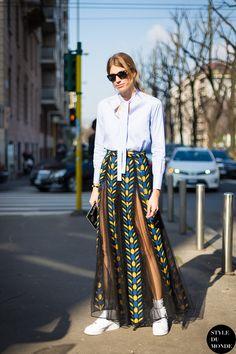Milan Fashion Week FW 2014 Street Style: Veronika Heilbrunner