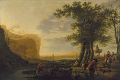 Landscape with Figures and Cattle, Follower of Aelbert Cuyp, circa 1660–1670, Purchased with funds from the State of North Carolina
