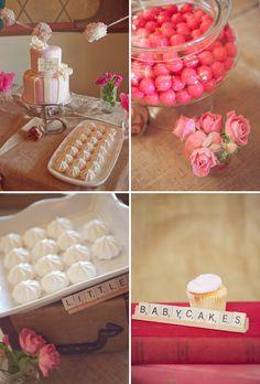 pearl, scrabbl tile, birthday parties, alphabet parti, scrabble tiles