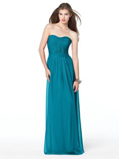 Dessy Collection Style 2834: The Dessy Group Color scheme -- eggplant and turquoise